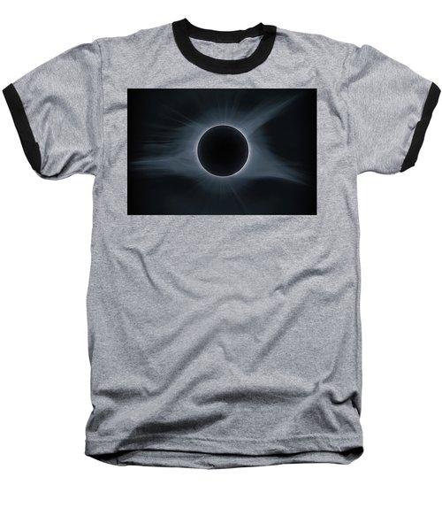 Total Solar Eclipse Corona Baseball T-Shirt