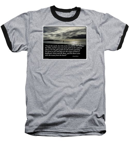 Touch The Earth Baseball T-Shirt
