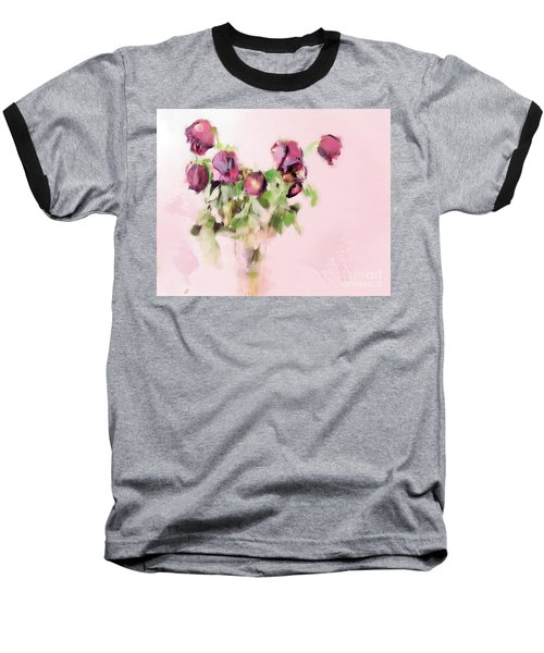 Baseball T-Shirt featuring the mixed media Touchable by Betty LaRue