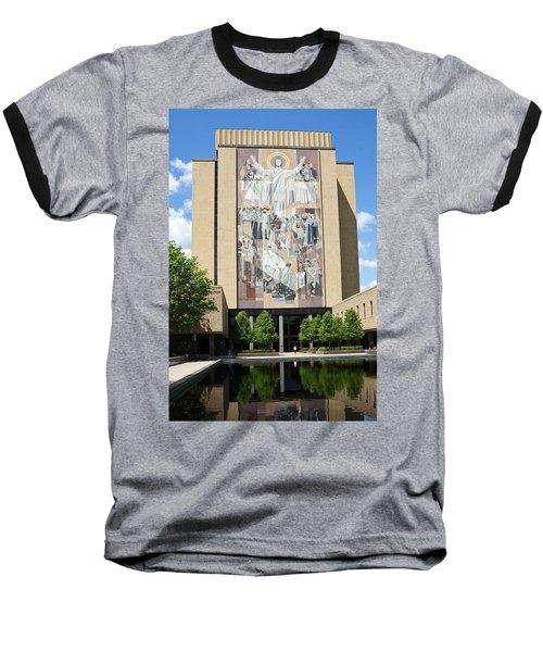 Touchdown Jesus Mural Baseball T-Shirt