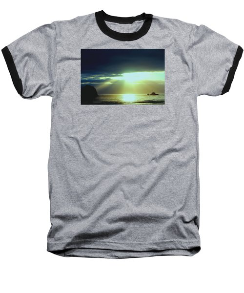 Touched From Above Baseball T-Shirt