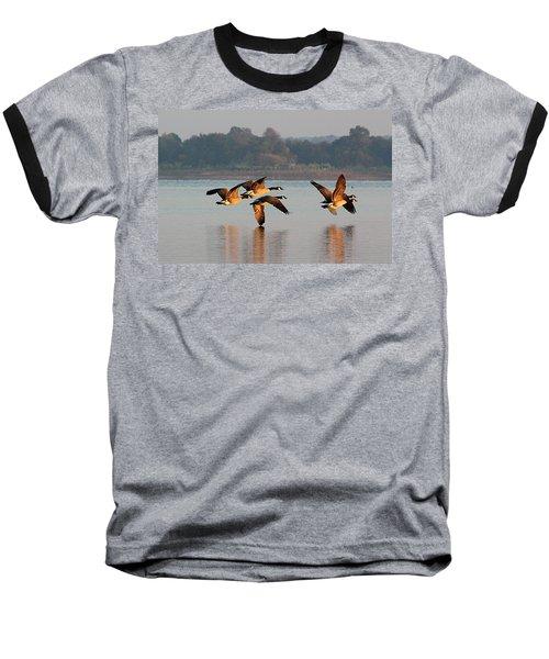 Touching Down At Sunrise Baseball T-Shirt