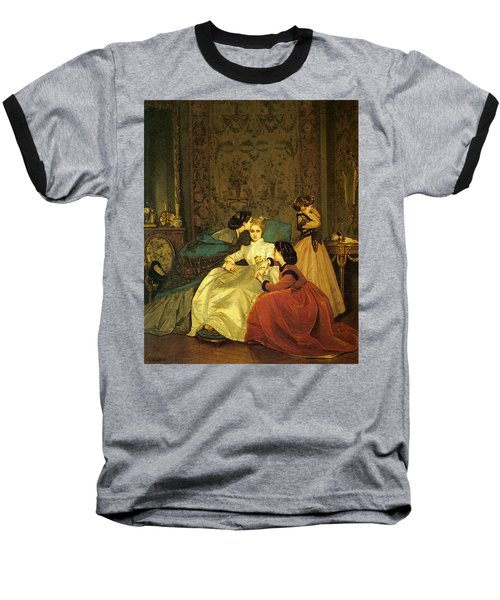 Toulmouche Auguste The Reluctant Bride Baseball T-Shirt by Auguste Toulmouche