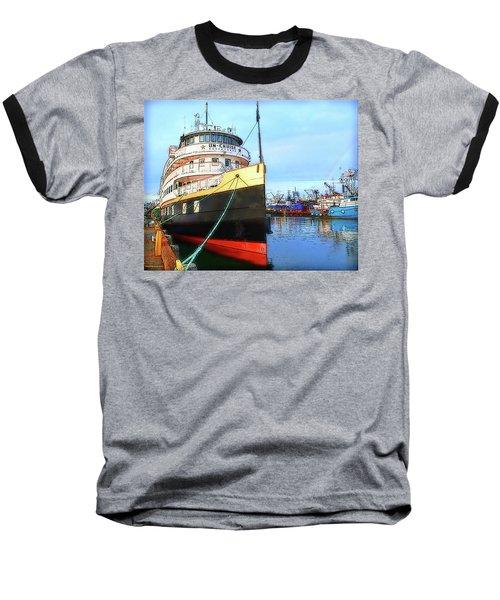 Tour Boat At Dock Baseball T-Shirt