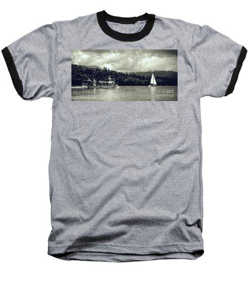Touring The Lakes In Sepia Baseball T-Shirt