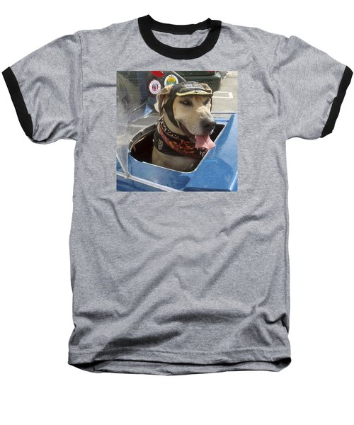 Tourist Dog 2 Square Baseball T-Shirt