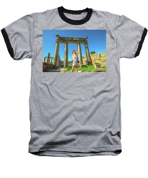 Tourist Traveler Photographer Baseball T-Shirt