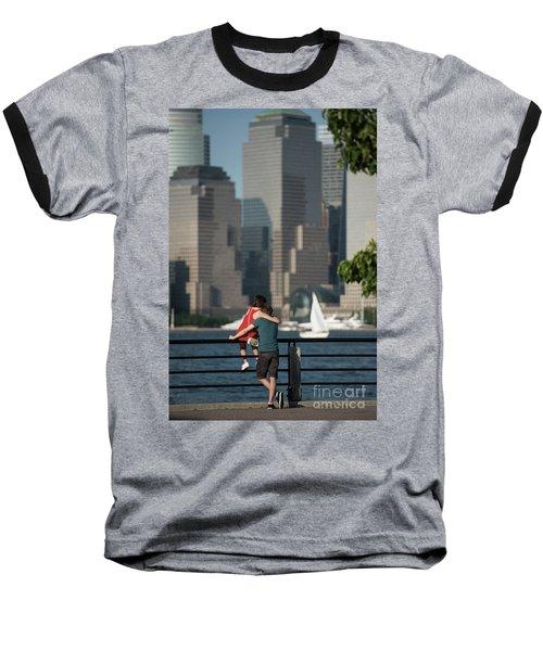 Tourists Baseball T-Shirt by Nicki McManus
