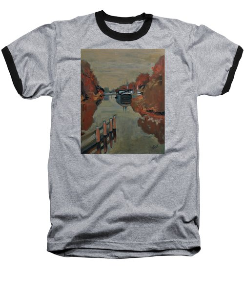 Baseball T-Shirt featuring the painting Towards Pius Harbour by Nop Briex
