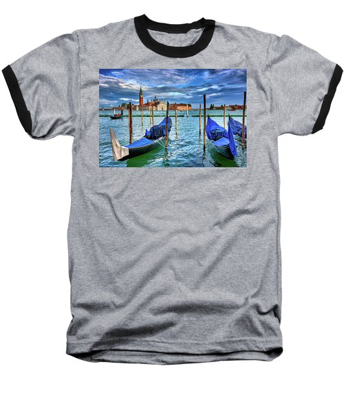 Gondolas And San Giorgio Di Maggiore In Venice, Italy Baseball T-Shirt