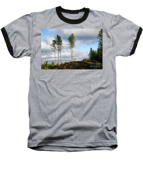 Towards The Sky Baseball T-Shirt by Kennerth and Birgitta Kullman