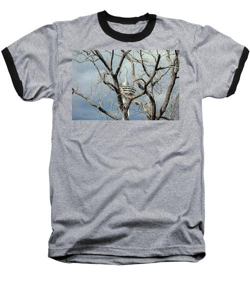 Baseball T-Shirt featuring the photograph Tower And Trees by Valentino Visentini