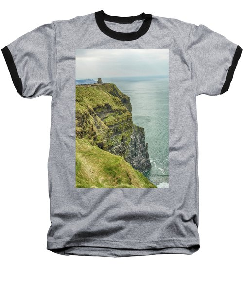 Tower At The Cliffs Of Moher Baseball T-Shirt