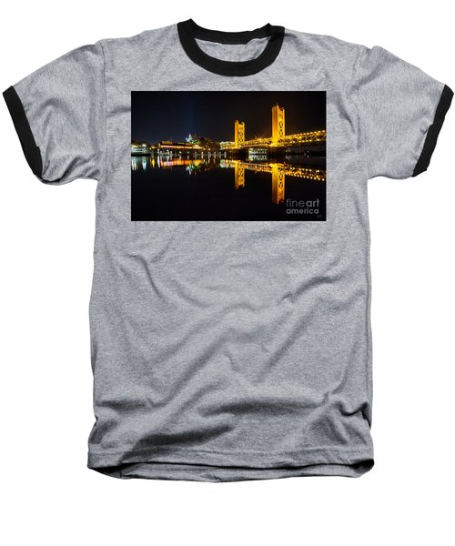 Tower Bridge Sacramento Baseball T-Shirt