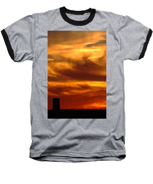 Tower In Sunset Baseball T-Shirt