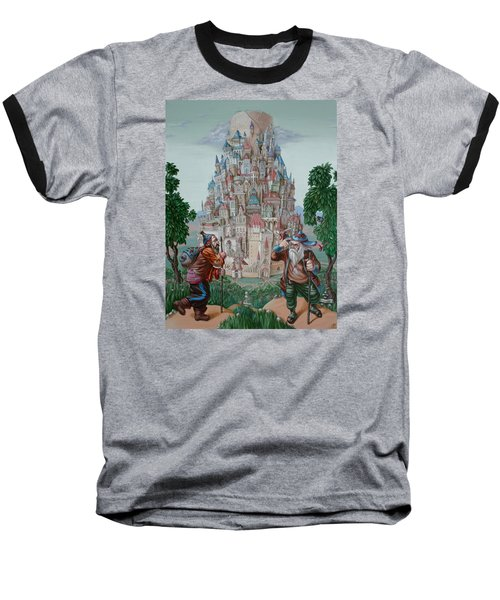 Tower Of Babel Baseball T-Shirt