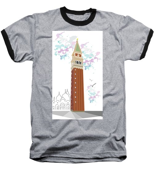 Tower Of Campanile In Venice Baseball T-Shirt