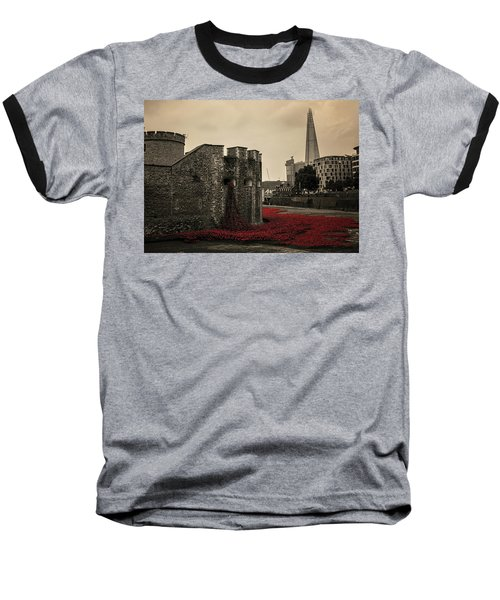 Tower Of London Baseball T-Shirt by Martin Newman