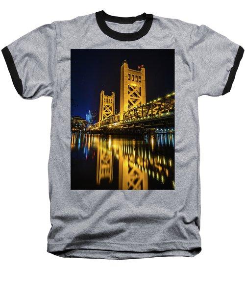 Tower Reflections Baseball T-Shirt by Alpha Wanderlust