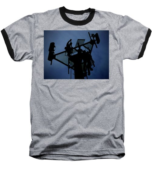 Tower Top Baseball T-Shirt by Robert Geary