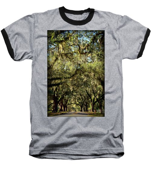 Towering Canopy Baseball T-Shirt by Carla Parris