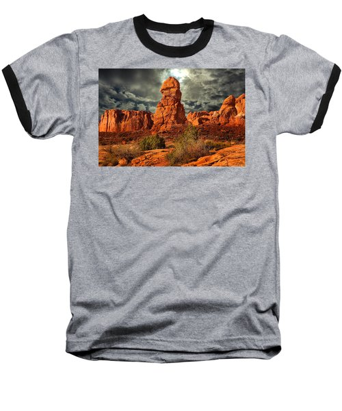 Baseball T-Shirt featuring the photograph Towering Rock by Harry Spitz