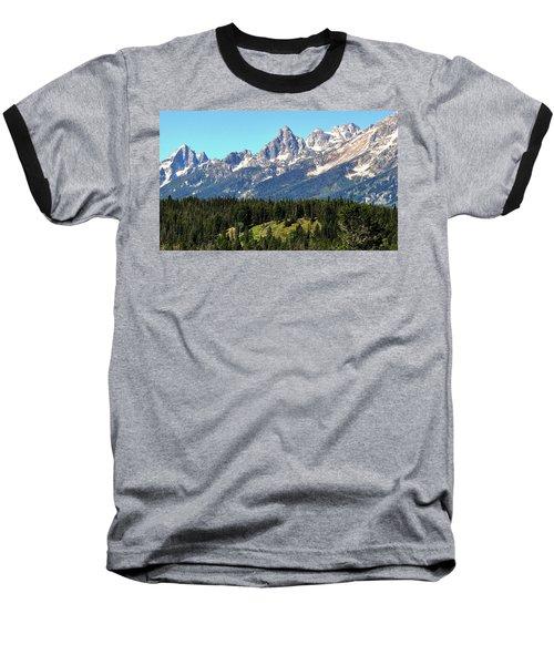 Towering Teton Range  Baseball T-Shirt