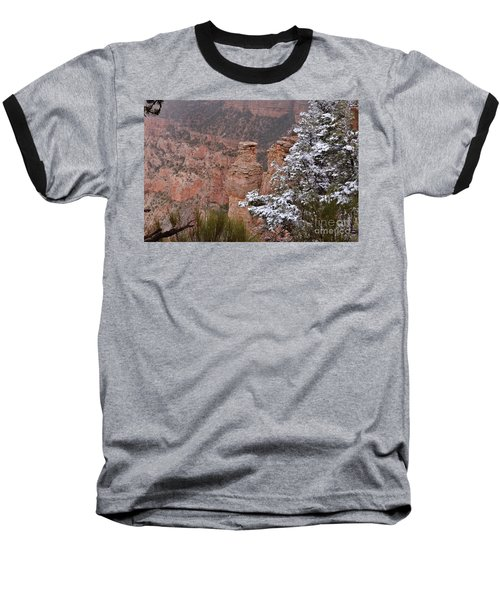 Towers In The Snow Baseball T-Shirt by Debby Pueschel