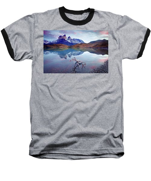 Baseball T-Shirt featuring the photograph Towers Of The Andes by Phyllis Peterson
