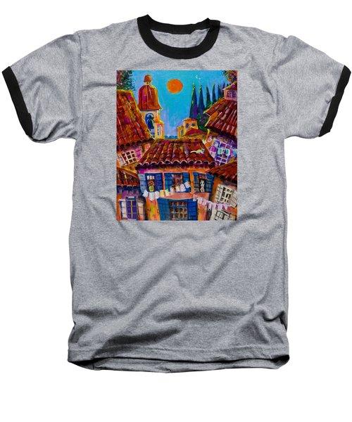 Town By The Sea Baseball T-Shirt by Maxim Komissarchik