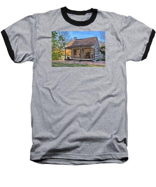 Town Creek Log Cabin In Fall Baseball T-Shirt