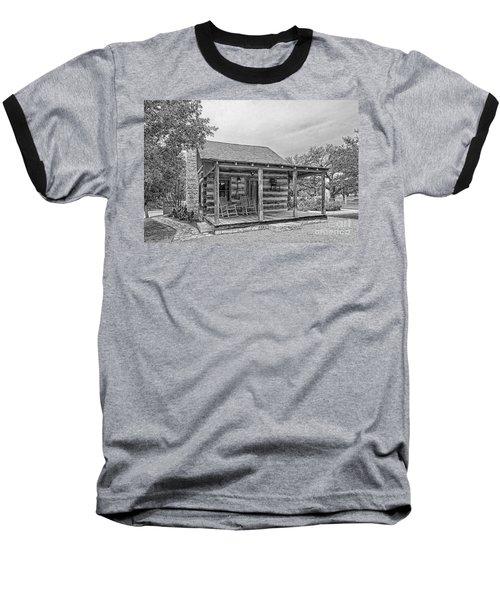 Town Creek Log Cabin Baseball T-Shirt