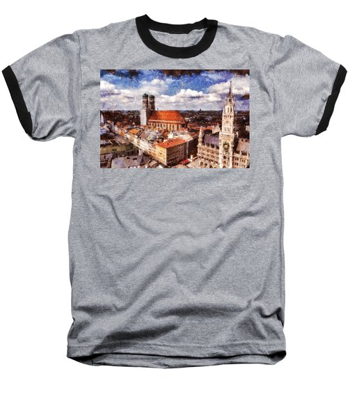 Baseball T-Shirt featuring the photograph Town Hall. Munich by Sergey Simanovsky