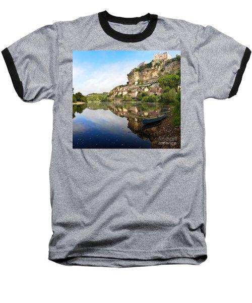 Town Of Beynac-et-cazenac Alongside Dordogne River Baseball T-Shirt by IPics Photography