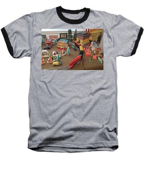 Toytown - Train Set Overview Baseball T-Shirt