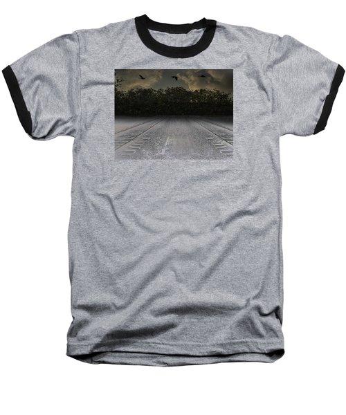 Tracks In The Sky Baseball T-Shirt
