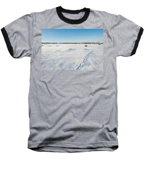 Tracks In The Snow Baseball T-Shirt