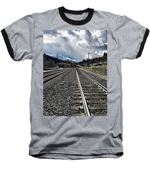 Tracks Baseball T-Shirt by JoAnn Lense