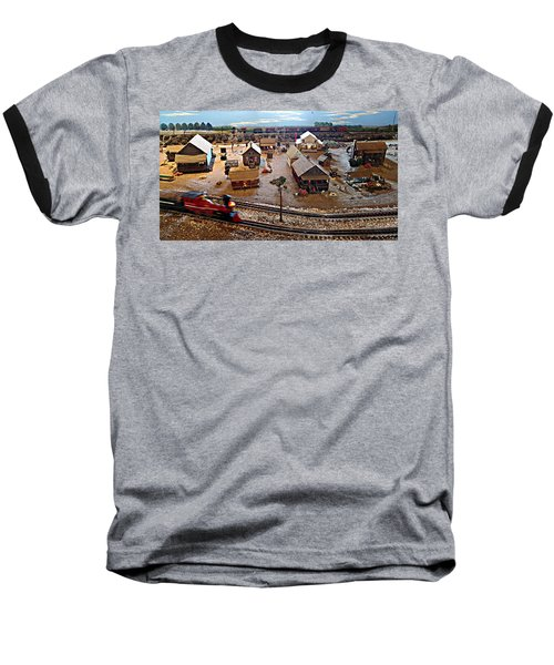 Baseball T-Shirt featuring the photograph Tracks by Steve Sperry