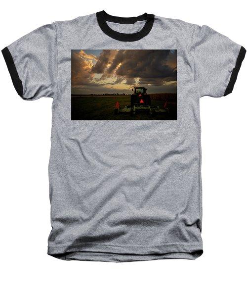 Tractor At Sunrise - Chester Nebraska Baseball T-Shirt