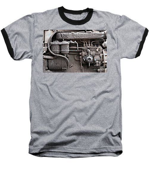 Baseball T-Shirt featuring the photograph Tractor Engine II by Stephen Mitchell