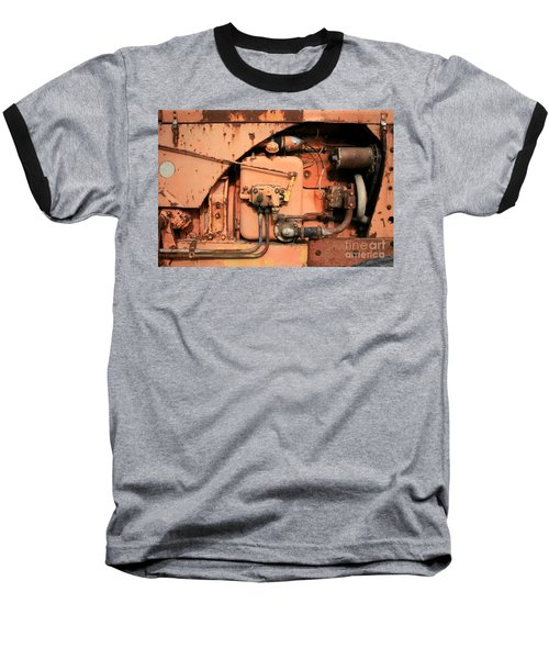 Baseball T-Shirt featuring the photograph Tractor Engine V by Stephen Mitchell