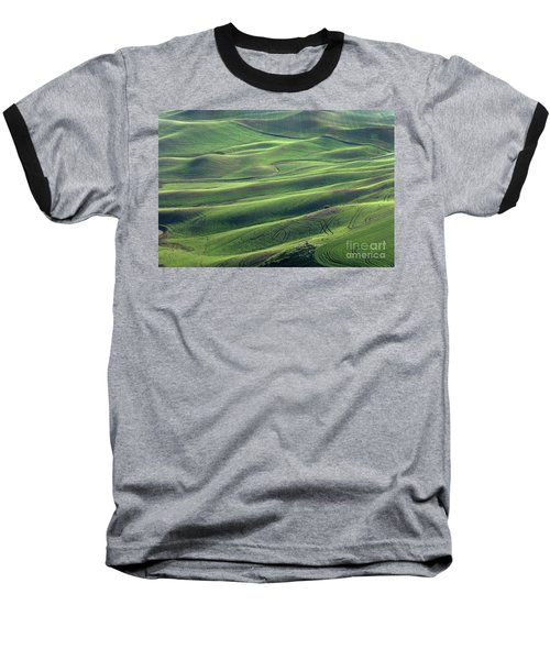 Tractor Tracks Agriculture Art By Kaylyn Franks Baseball T-Shirt