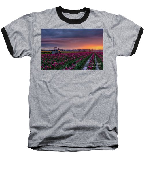 Baseball T-Shirt featuring the photograph Tractor Waits For Morning by Mike Reid