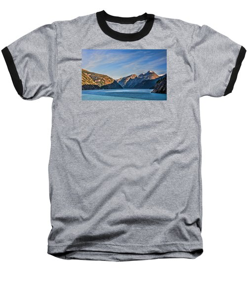 Tracy Arm Fjord  Baseball T-Shirt by Lewis Mann