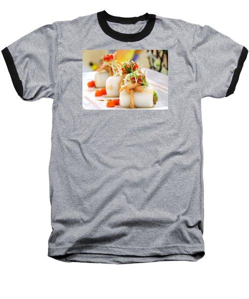 Traditional Chinese Hakka Rice Noodle Roll Baseball T-Shirt by Yali Shi