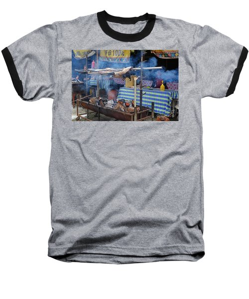Traditional Market In Taiwan Native Village Baseball T-Shirt by Yali Shi