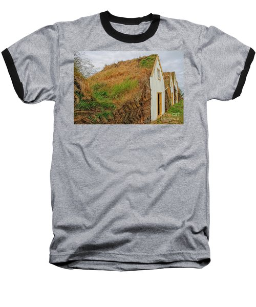 Traditional Turf Houses In Iceland Baseball T-Shirt