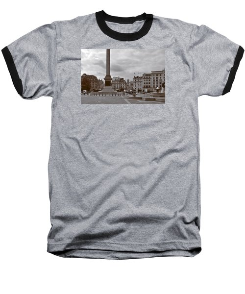 Baseball T-Shirt featuring the photograph Trafalgar Square Sunday Morning by Nop Briex