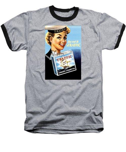 Traffic Cigarette Baseball T-Shirt